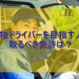 貨物トラックドライバーを目指す人が取るべき運転免許